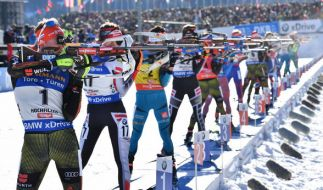 Biathlon-Weltcup in Pyeongchang: das Verfolgunsrennen und die Staffeln stehen auf dem Plan. (Foto)