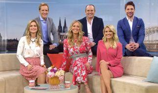 """Die drei RTL-Moderations-Teams von """"Guten Morgen Deutschland"""": (v.l.) Susanna Ohlen und Jan Hahn, Angela Finger-Erben und Wolfram Kons, Jennifer Knäble und Florian Ambrosius. (Foto)"""