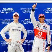 Lewis Hamilton will endlich wissen, wie es Schumi geht (Foto)