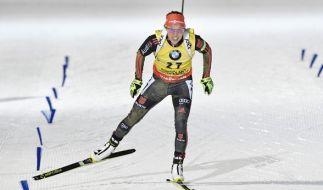 Laura Dahlmeier aus Deutschland am 10. März bei ihrem Lauf während des IBU Biathlon Weltcup in Kontiolahti (Finnland). (Foto)