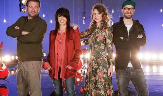 """Sasha, Nena, Larissa und Mark Forster warten auf die neuen Talente bei """"The Voice Kids"""" 2017. (Foto)"""