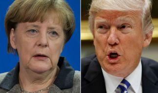 Angela Merkel wird Trump erst am Freitag treffen. (Foto)
