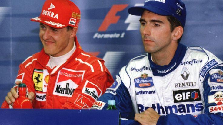 Michael Schumacher (l.) und Damon Hill lieferten sich legendäre Duelle.