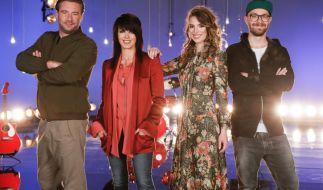 """""""The Voice Kids"""" geht mit Sasha, Nena, Larissa und Mark Forster (v.l.n.r.) in die nächste Runde. (Foto)"""
