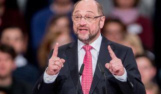 Martin Schulz, neu gewählter SPD Parteivorsitzender und SPD-Kanzlerkandidat in Berlin beim SPD-Sonderparteitag. (Foto)