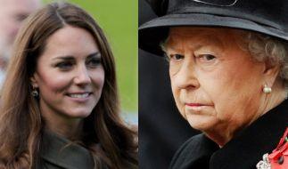 Zu faul? Queen Elizabeth II. stänkert gegen Kate Middleton. (Foto)