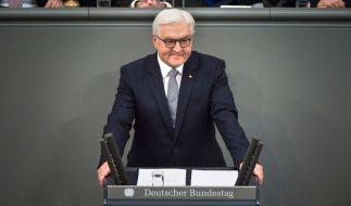Der neue Bundespräsident Frank-Walter Steinmeier nach seiner Vereidigung im Deutschen Bundestag in Berlin. (Foto)