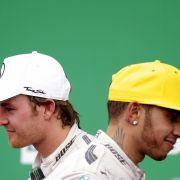 Hamilton giftet wieder gegen Rosberg (Foto)