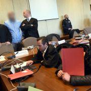 Die Angeklagten im Kölner Prozess gegen