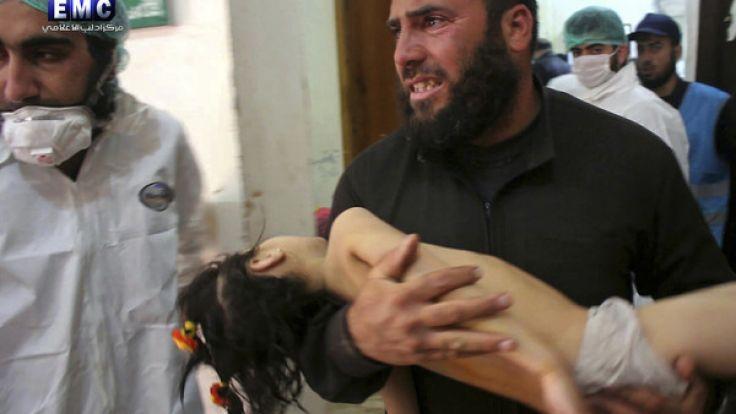 Bei einem mutmaßlichen Giftgas-Angriff in Syrien starben viele Kinder. (Foto)
