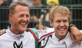 Sebastian Vettel ehrt Schumi beim Großen Preis von China. (Foto)