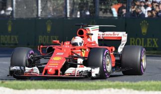 Sebastian Vettel vom Team Scuderia Ferrari am vergangenen Rennwochenende. (Foto)