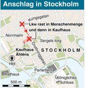 Der Anschlag fand in einer belebten Einkaufsstraße in Stockholm statt.