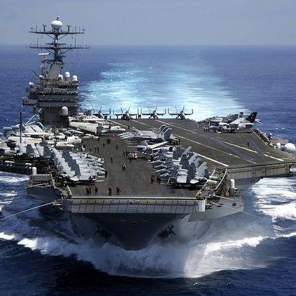 Donald Trump bringt Kriegsschiffe in Stellung (Foto)