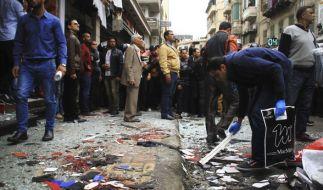 Den Palmsonntag (9.4.2017) erschütterten Bombenanschläge auf zwei koptische Kirchen in Ägypten. (Foto)