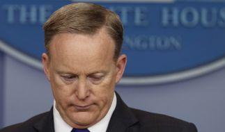 Sean Spicer überraschte bei einer Pressekonferenz mit einem unglücklichen Vergleich. (Foto)