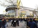 Vor dem Spiel zwischen dem BVB und AS Monaco war am Signal Iduna Park noch alles ruhig. (Foto)