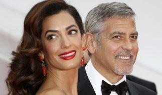 Voller Vorfreude: Amal und George Clooney werden im Sommer zum ersten Mal Eltern. (Foto)