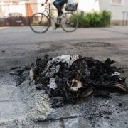 Grausig! Brennender Obdachloser stirbt auf Straße (Foto)