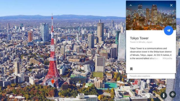Infos zur Sehenswürdigkeit gewünscht? Im neuen Google Earth gibt es zu vielen Objekten, Städten und Landschaften nun Wissenskarten mit Informationen. (Foto)
