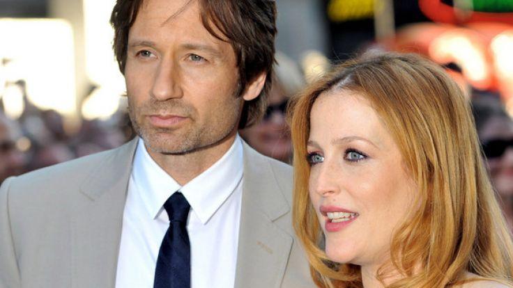 """David Duchovny und Gillian Anderson spielen die Agenten Mulder und Scully der Mystery Serie """"Akte X"""". (Foto)"""