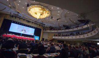 Im Maritim-Hotel in Köln fand am 22. und 23. April 2017 der Parteitag der AfD statt. (Foto)
