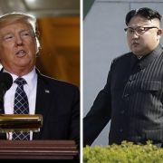 """Trump warnt vor """"großem Konflikt"""" mit Kim Jong-un (Foto)"""