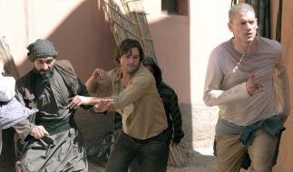 Abu Ramal (Numan Acar), Whip (Augustus Prew) und Michael Scofield (Wentworth Miller) können entkommen. (Foto)
