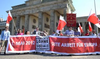 Bereits seit 1886 demonstrieren Menschen am 1. Mai weltweit für bessere Arbeitsbedingungen. (Foto)