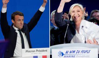 Am Sonntag, den 7. Mai 2017, steht die Stichwahl in Frankreich zwischen Emmanuel Macron und Marine Le Pen an. (Foto)