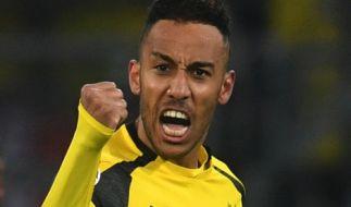 Borussia Dortmund steht mit Pierre-Emerick Aubameyang am 32. Spieltag der 1. Fußball-Bundesliga gegen Hoffenheim auf dem Platz. (Foto)