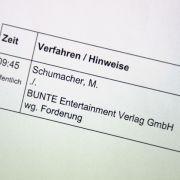 """""""Bunte"""" muss blechen! Endlich Gerechtigkeit für Schumi (Foto)"""
