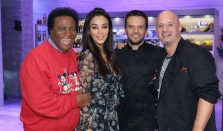 Roberto Blanco, Verona Pooth und Detlef Steves fordern Steffen Henssler zum Koch-Duell heraus. (Foto)