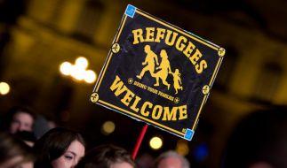 Flüchtlinge fühlen sich in Deutschland willkommen. (Foto)