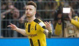 Marco Reus und seine Mannschaft Borussia Dortmund treffen an diesem Samstag auf den FC Augsburg. (Foto)