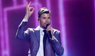 """Robin Bengtsson singt für Schweden """"I Can't Go On"""" bei dem 62. Eurovision Song Contest in Kiew. (Foto)"""