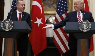 Beim Treffen von Erdogan und Trump kam es zu schweren Ausschreitungen. (Foto)