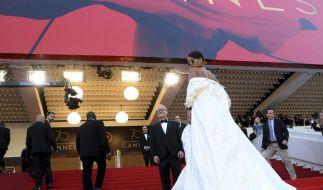 Sängerin Rihanna bei den Filmfestspielen in Cannes. (Foto)