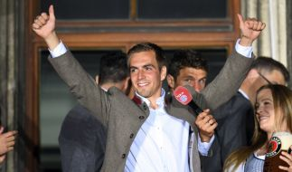 Philipp Lahm wurde von den Bayern standesgemäß verabschiedet. (Foto)