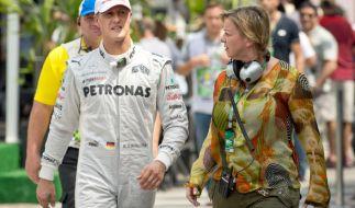 Michael Schumacher mit Managerin Sabine Kehm. (Foto)