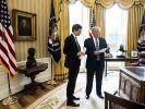 Donald Trump und sein Schwiegersohn Jared Kushner. (Foto)
