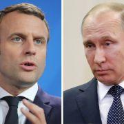 Macron drängt bei Putin auf Lösung in der Syrien-Krise (Foto)