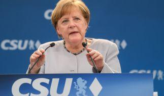 Merkels Rede hat auch international hohe Welle geschlagen. (Foto)