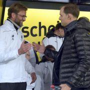 Im Europa-League-Viertelfinale 2016 ging's gegen Tuchels Vorgänger Jürgen Klopp und sein Team vom FC Liverpool. Während das Hinspiel noch Remis ausging, ging Liverpool im Rückspiel als knapper Sieger hervor.