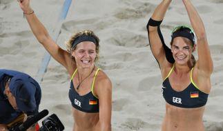 Laura Ludwig und Kira Walkenhorst bei den Olympischen Spielen in Rio de Janeiro (Brasilien). (Foto)