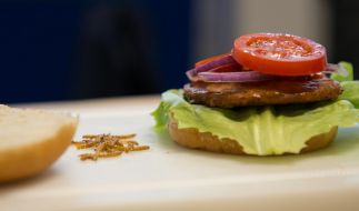 Haare und Abfall wurden in einem Burger serviert. (Foto)