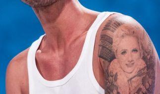 Den Oberarm von Florian Silbereisen ziert ein Konterfei seiner Freundin Helene Fischer. (Foto)