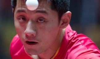 Am Montag, dem 05.06.2017, findet in Düsseldorf das Finale der Herren bei der Tischtennis-WM 2017 statt. (Foto)