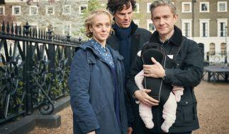 Eine Videobotschaft lässt Sherlock (Benedict Cumberbatch) an Moriartys Tod zweifeln: Hat sein Rivale diese vorher aufgezeichnet – oder tatsächlich auf mysteriöse Weise überlebt? (Foto)
