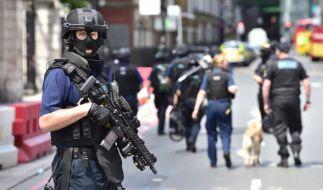 Bewaffnete Polizei in London. (Foto)
